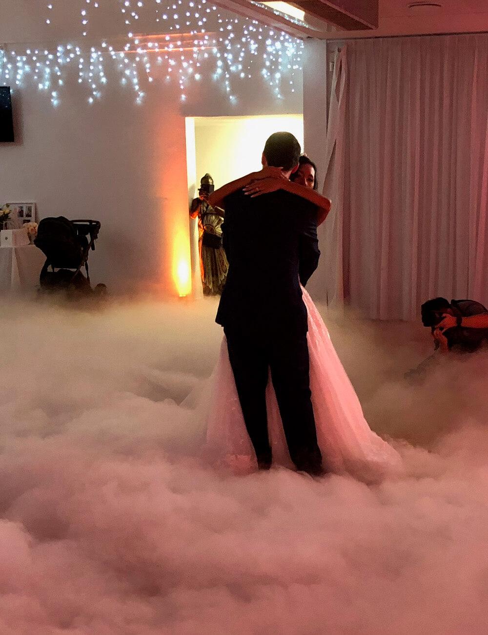 DJ Corey Newly Wed Dance on smoke