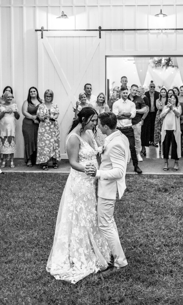 Bride and Groom Dance At Wedding