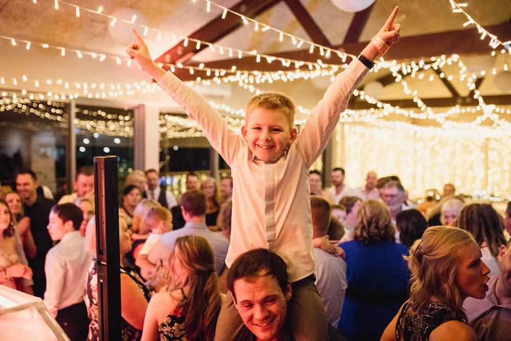 DJ Corey Child Celebrating Wedding
