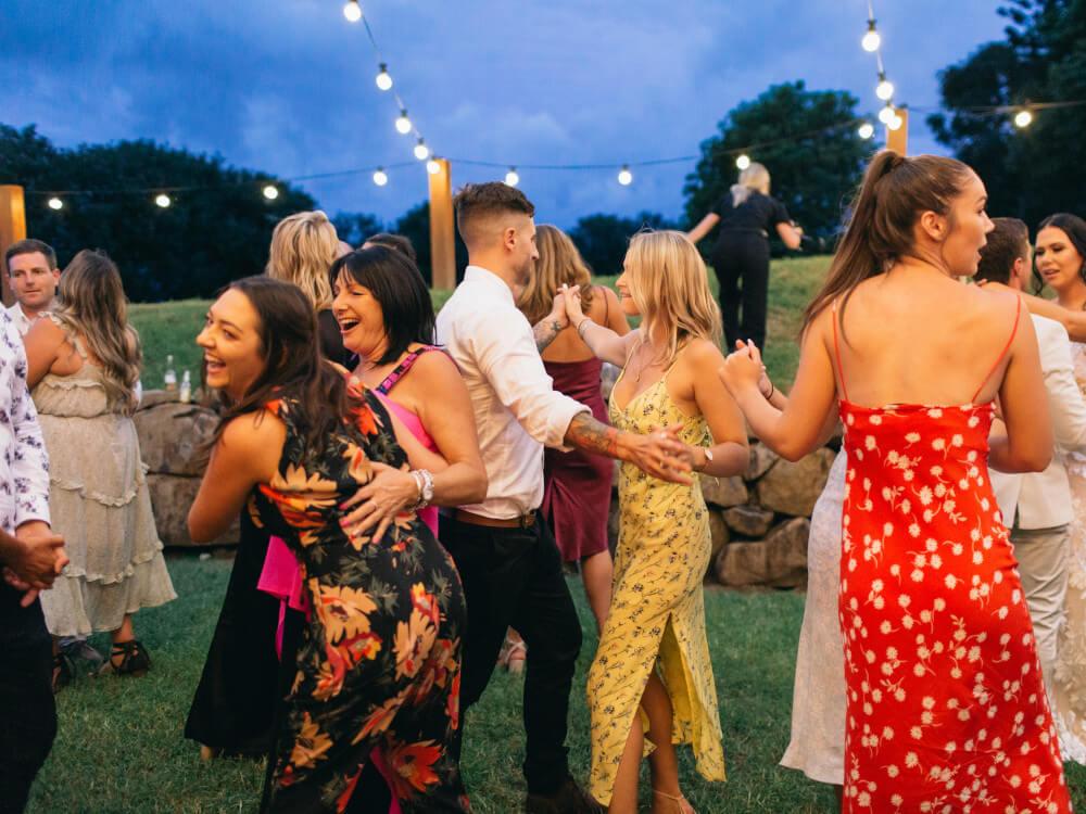 DJ Corey Wedding Outdoor Dancing Guests